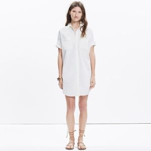 Madewell Courier Shirt Dress in Pure White XS